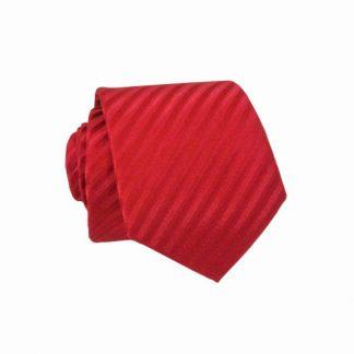 Red Stripe T/T Skinny Men's Tie w/ Pocket Square 5400