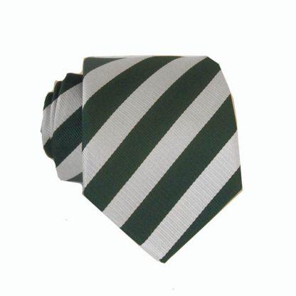 """48"""" Green, Silver Stripe Boy's Tie"""