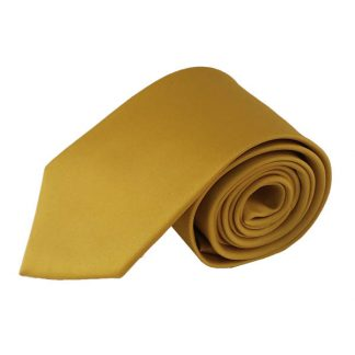 "63"" XL Gold Solid Men's Tie 8019"