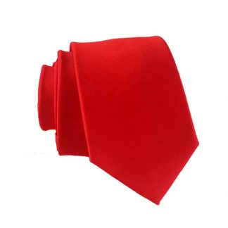 "49"" Red Solid Boy's Tie 877"