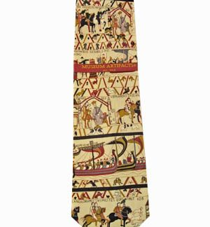 Bayeux Tapestry Silk Men's Tie 9306