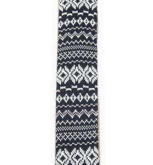 Black and White Fairisle Knit