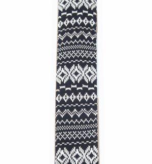 Black and White Fairisle Knit