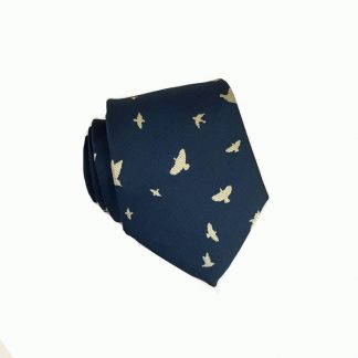 "48"" Boy's Navy w/Tan Birds Tie 989"