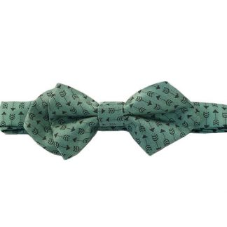 Mint, Gray Arrows Pointed Bow Tie 6757-0