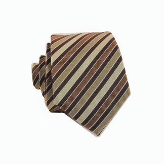 Brown Taupe Stripe Skinny