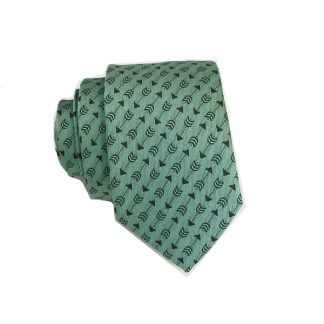 Mint w/Gray Arrows Skinny Men's Tie 8072-0