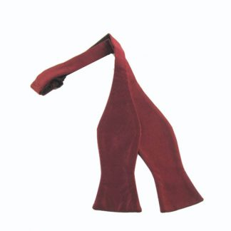 Burgundy Solid Silk Self Tie Bow Tie