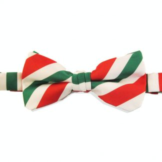 Candy Cane Stripe Bow Tie