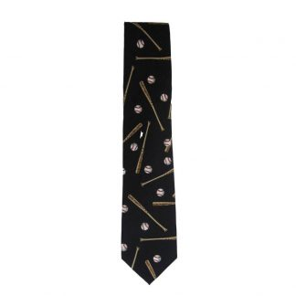 Baseballs & Bats Repeat Men's Tie 3137
