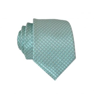 Mint Diamond Tone on Tone Men's Skinny Tie & Pocket Square 3432