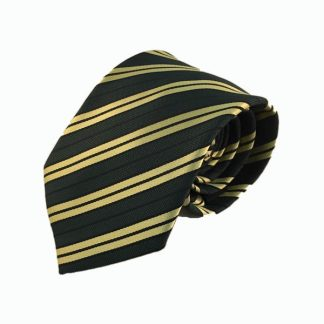Hunter Green, Yellow Stripe Men's Tie
