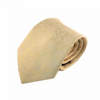 Cream Floral Tone on Tone Men's Tie