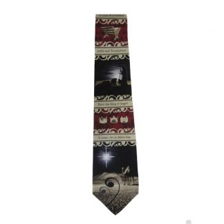 Let Us Adore Him Christmas Men's Silk Tie 4939