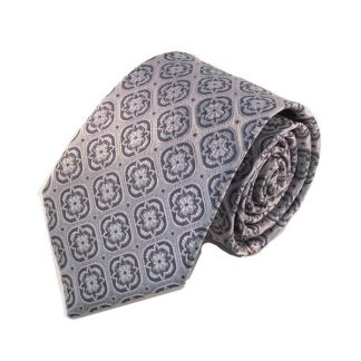 Silver, Gray Medallion Men's Tie