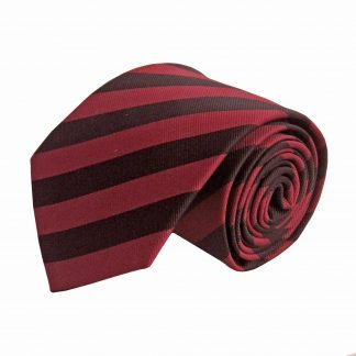 Black and Burgundy Stripe Men's Tie 9528-0