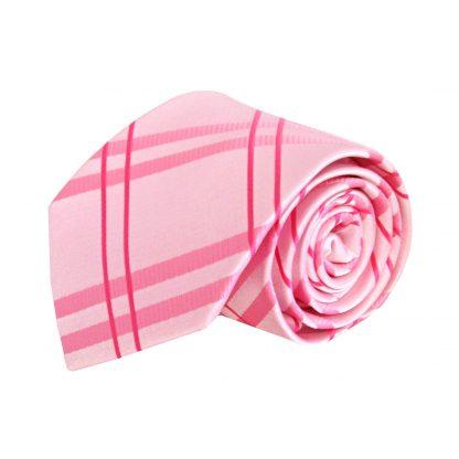 Pink Criss Cross Men's Tie w/Pocket Square 8676-0