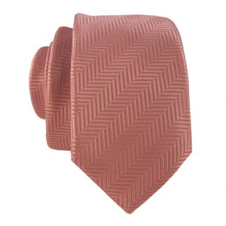 Mauve Line Stripe Men's Skinny Tie w/ Pocket Square 3125