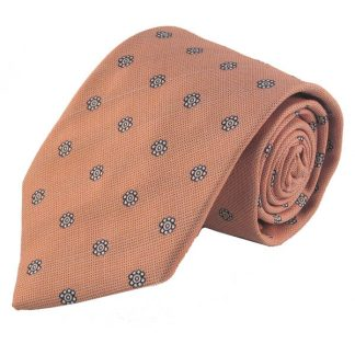 Salmon with Blue Medallion Men's Tie 9586