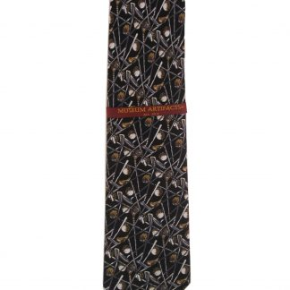 Black Golf Clubs and Golf Balls Silk Men's Tie 3041
