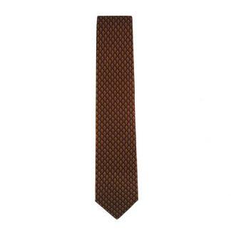 Fleur De Lis Plaid Men's Red Tie 4101