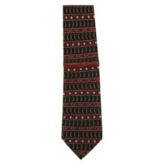 Horizontal Golfers Repeat Silk Men's Tie 3001