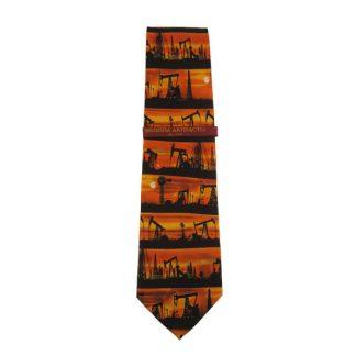 Oil Rigs Silk Tie 5031