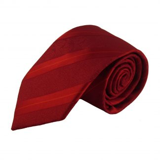 Red Baroque Stripe Men's Tie w/ Pocket Square 3860