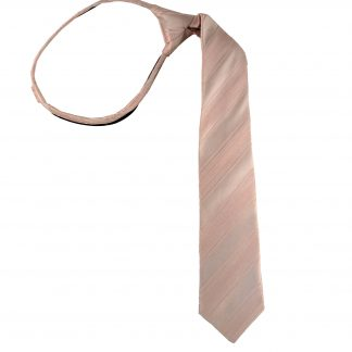 "17"" Zipper Nude Pink Tone on Tone Stripe Men's Tie 2158"