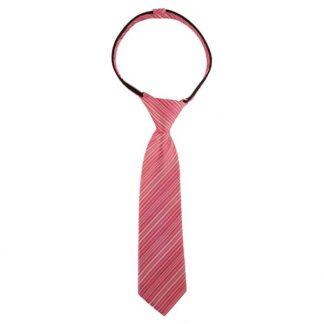 """11"""" Pink Stripe Zipper Tie 6630"""