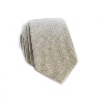 Gray Tone on Tone Cotton Skinny Men's Tie