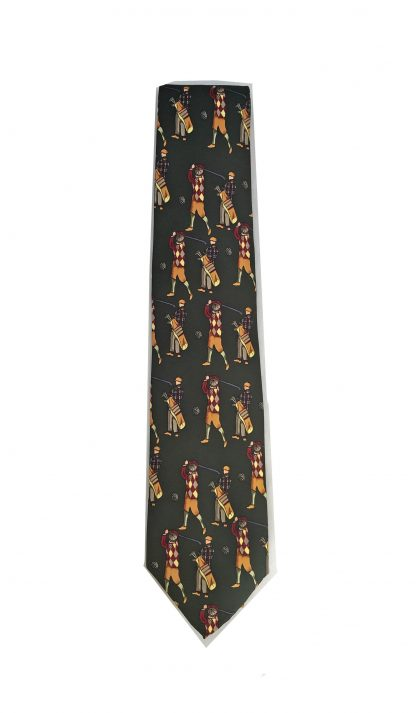 Green Classic Golfers All Over Men's Tie
