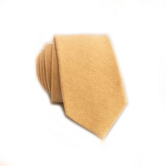 Peach Tone on Tone Cotton Skinny Men's Tie