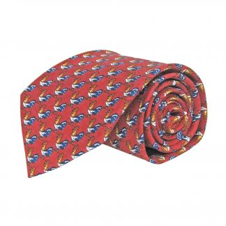 Red Roosters All Over Men's Tie 1727-0