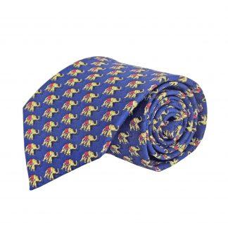 Navy Elephants All Over Men's Tie 3375-0