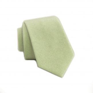 Mint Tone on Tone Cotton Skinny Men's Tie