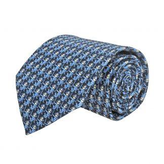 Navy Monkeys All Over Men's Tie 4347-0