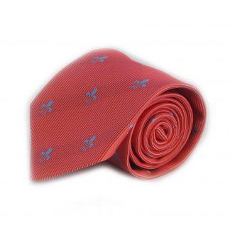 Red Fleur De Lis Men's Tie