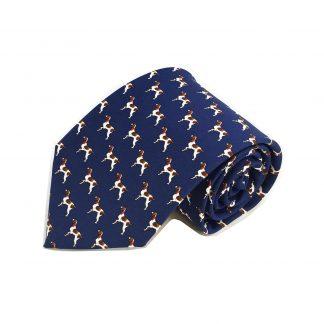Navy Dogs All Over Men's Tie