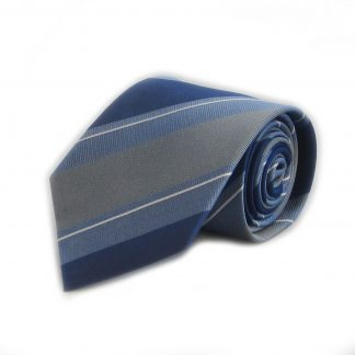 Blue, Gray Stripe Silk Men's Tie 11010-0