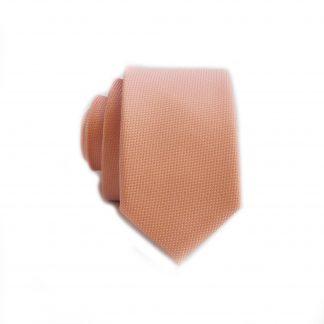 Peach Solid Tone on Tone Skinny Men's Tie