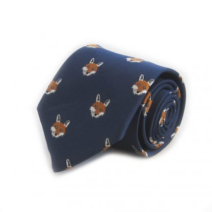 Blue Fox Heads All Over Men's Tie 5295-0
