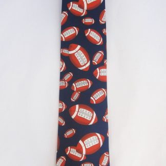 Footballs on Navy Men's Tie 6118-0