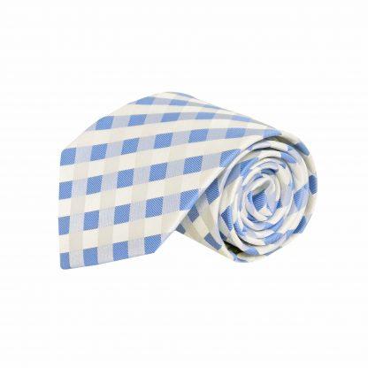 Blue, White Criss Cross Men's Tie 8371-0