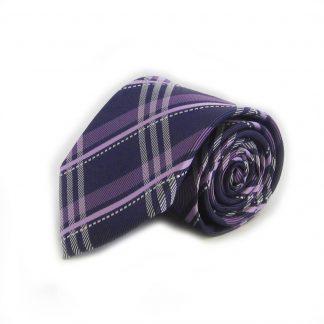 Purple, Lavender Plaid Men's TIe 8738-0