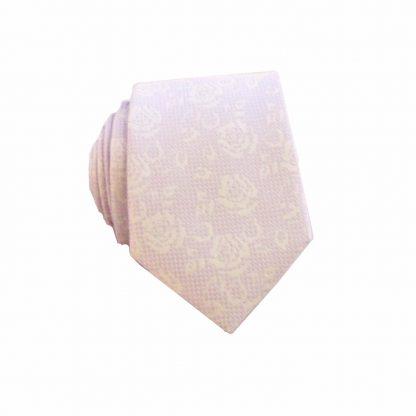 Lavender Lace Floral Men's Skinny Tie