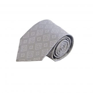 Silver, Grey Squares Men's Tie