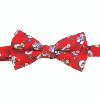 Red Snowmen Banded Bow Tie
