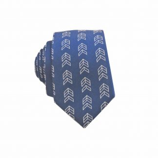 Navy, Silver Arrows Men's Skinny Tie