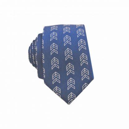 Navy, Silver Arrows Men's Skinny Tie